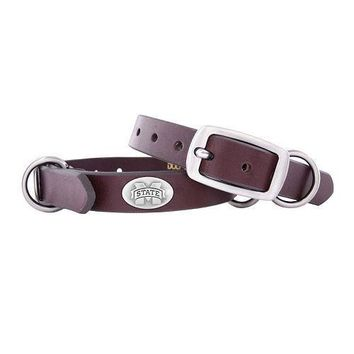 Zep-Pro Mississippi State Bulldogs Concho Leather Dog Collar - XS