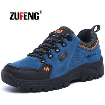 ZUFENG Men Hiking Shoes Women Waterproof Trekking Boots Breathable Sports Mountain Climbing Shoe Outdoor Walking Sneakers Male