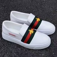 Gucci Fashion Bee Embroidery Slip-On Old Skool Sneakers Sport Shoes