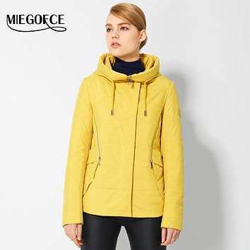 Spring Women's Jackets and Coats Fashionable Short Women's Quilted Jacket European Style Women's Warm Parkas 2017 New MIEGOFCE