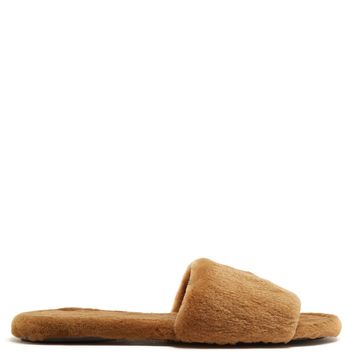 Ellen sheared-mink slide | The Row | MATCHESFASHION.COM UK