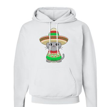 Cat with Sombrero and Poncho Hoodie Sweatshirt  by TooLoud