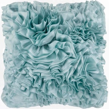 Prom Ruffles and Rouching Decorative Pillow - Home Decor | Surya