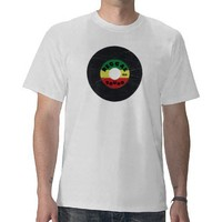 7-Inch Reggae Record T-Shirt from Zazzle.com
