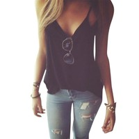 Loose Casual Cropped Tank Tops halter Camis