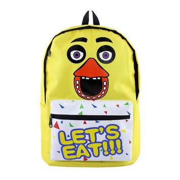 MeanCat  at  Yellow Duck Shoulder Backpack Let's Eat Mochila Five Night at Freddy