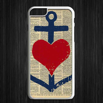 Anchor Heart for iPhone 4/4s/5/5s/5c/6/6+, iPod, Samsung Galaxy S3/S4/S5/S6, HTC One, Nexus