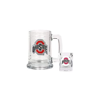 Ohio State Shot Glass and Mug Set - Etching Personalized Gift Item