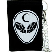 Witchcraft Alien Crescent Moon Tri-fold Wallet Alternative Clothing Astrology