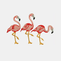 Flamingos Machine Embroidery Designs - Embroidery Design 262 - Embroidery Art Online