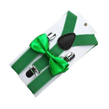 New Kids Suspenders With Bowtie Bow Tie Set