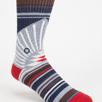 Stance Arecibo Mens Athletic Crew Socks Blue One Size For Men 25867020001