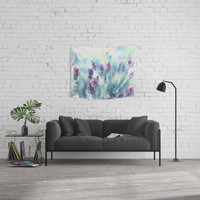 Lavender Summerdreams Wall Tapestry by tanjariedel