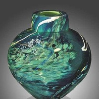 Atlantis Emperor Bowl by Randi Solin: Art Glass Vessel - Artful Home