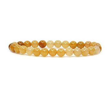 Amandastone Gem Semi Precious Gemstone 6mm Round Beads Stretch Bracelet 7quot Unisex
