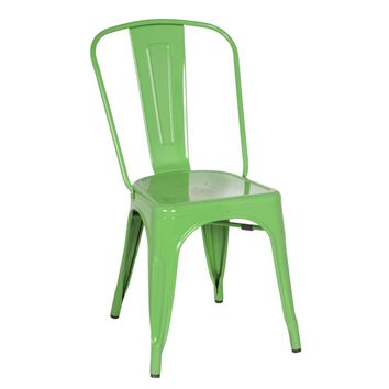 Tolix Style Chair, Green