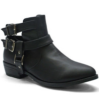 Samantha Buckle Booties ( Black)