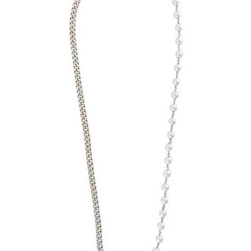 Mm6 Maison Margiela Pearls And Chain Necklace - Farfetch