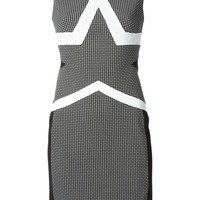 Diane Von Furstenberg fitted star motif dress