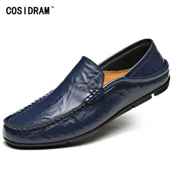 High Quality Genuine Leather Men Shoes Soft Men Loafers Fashion Moccasins Brand Men Flats Casual Driving