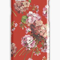 'Harry Styles Floral Pattern' iPhone Case/Skin by zophiequan