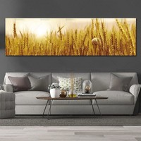 wall picture canvas painting art print Wheat on canvas and posters picture wall art Painting decoration for living room no frame