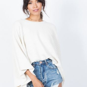 Comfy Bell Sleeve Sweater