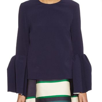 Truffaut bell-sleeve bonded-crepe top | Roksanda | MATCHESFASHION.COM US
