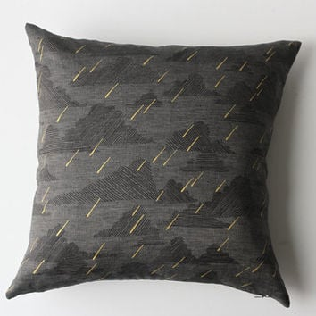 Linen Pillow Cover - Square Dark Rainy Day