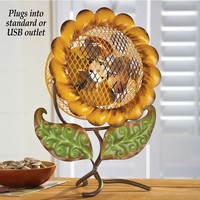 Decorative Sunflower Tabletop Fan