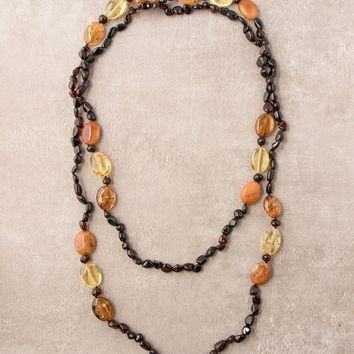 Amber Multi Wrap Necklace - 48 inch