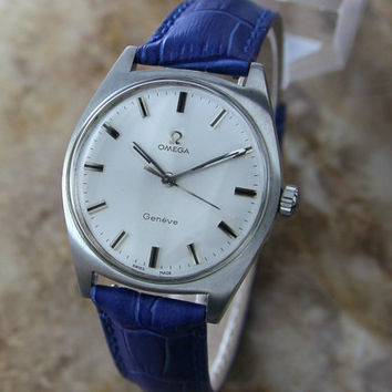 Rare 1968 Men's Swiss Vintage Omega Geneve manual wind in Stainless Steel