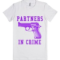 Partners In Crime 2-Female White T-Shirt