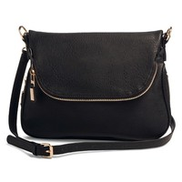 Women's Zipper Flap Crossbody Handbag: Target