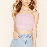 Smocked Cropped Cami