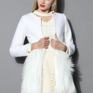 Snow White Faux Fur Coat