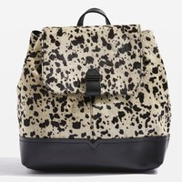 Premium Leather Pony Backpack   Topshop