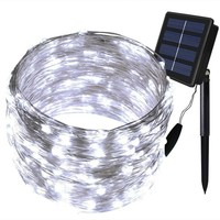 72ft Outdoor Solar Powered String Lights