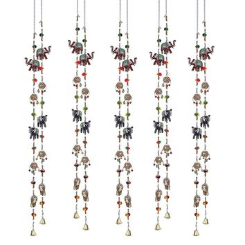 Decorative Boho Hanging String of Elephants SET