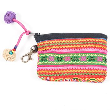 Vintage Hmong Hill Tribe Coin Purse (Thailand) - Style 12