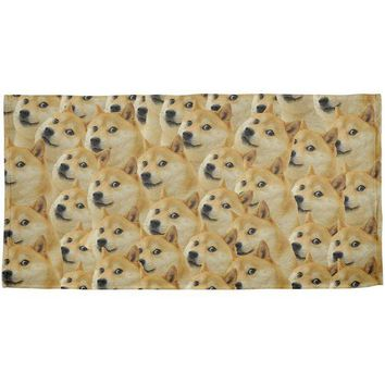 DCCKJY1 Doge Meme Funny All Over Beach Towel