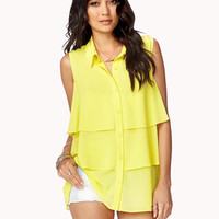 Tiered Georgette Top   FOREVER 21 - 2034607097