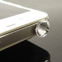 Hot 1PC Swarovski Crystal Cell Phone Earphone Jack Antidust Plug Charm for iPhone 4s,4g,5,5s,Samsung S4, Nokia HTC