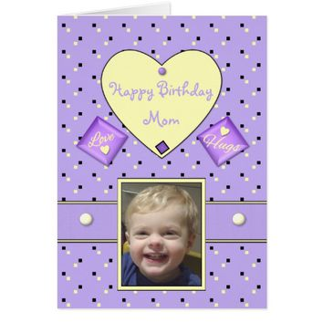 Photo Birthday card for Mom
