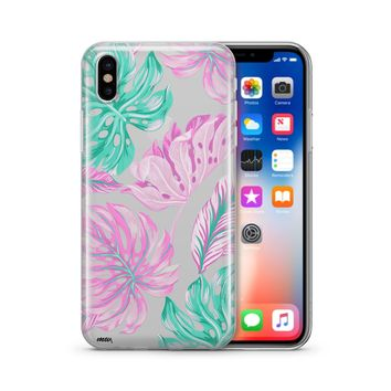 Hawaiian Garden - Clear TPU Case Cover