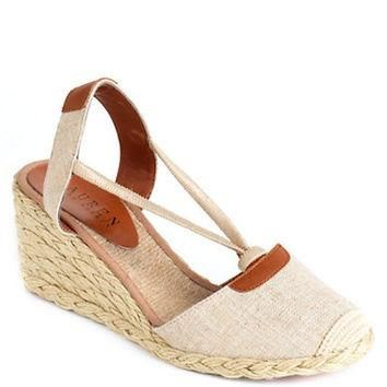 Lauren Ralph Lauren Cala Slingback Wedge Sandals