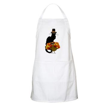 THANKSGIVING LE CHAT NOIR WITH TURKEY PILGRI APRON