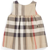 Infant Girl's Burberry Sleeveless Check Dress
