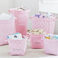 Light Pink Canvas Storage | Pottery Barn Kids
