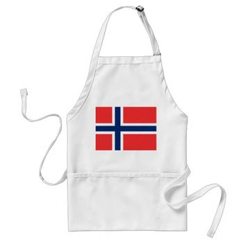 Apron with Flag of Norway
